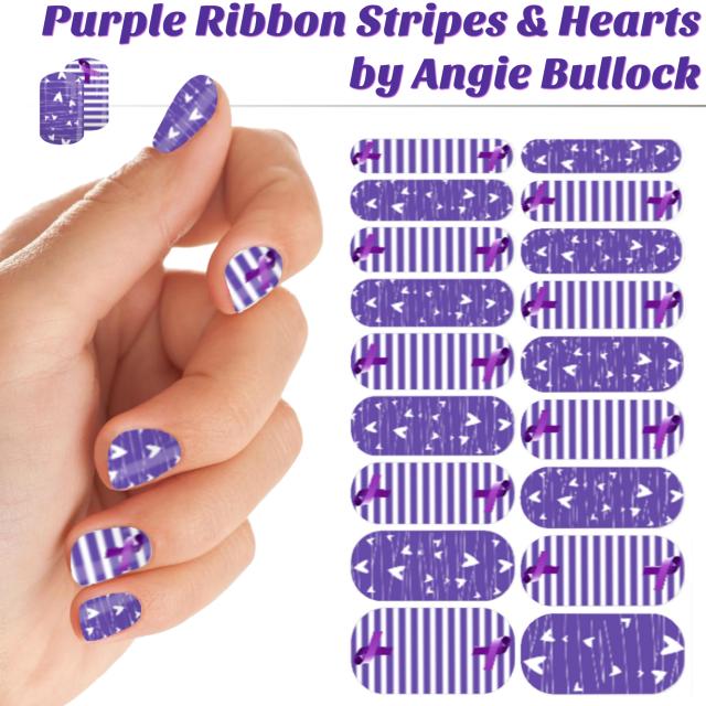 purple-ribbon-stripes-hearts-collage